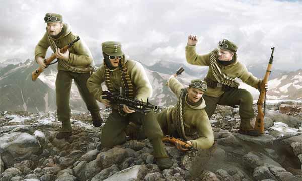 4 Figurines OFFICIERS /& PERSONNEL KIT ICM 1//35 n° 35612 ETAT MAJOR SOVIETIQUE